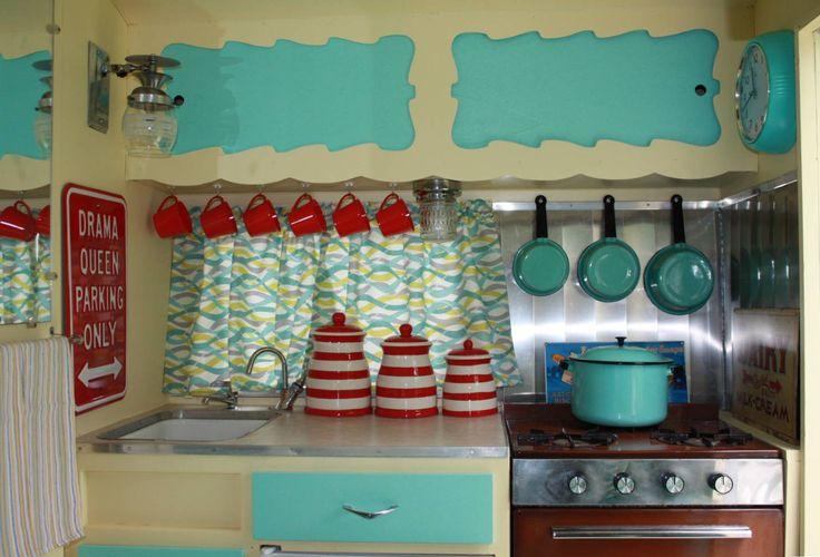 Cute camper kitchen.