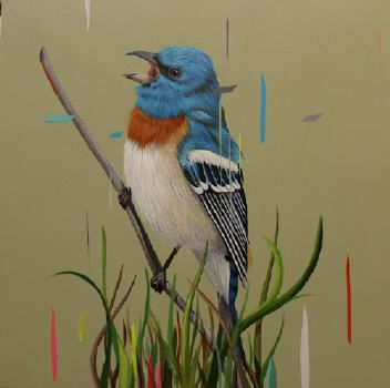 Artist: Frank Gonzales, Title: Bunting Bird - click for larger image