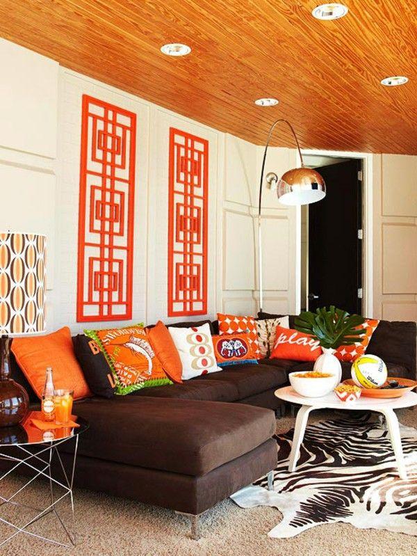 Warna Orange Ruang Tamu