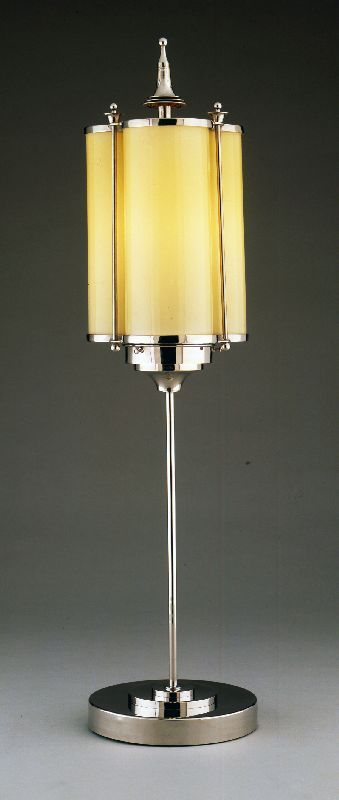Marcello Piacentini trefoil motif table lamp - 1920's - Metal, glass, rubber - The Wolfsonian-Florida International University