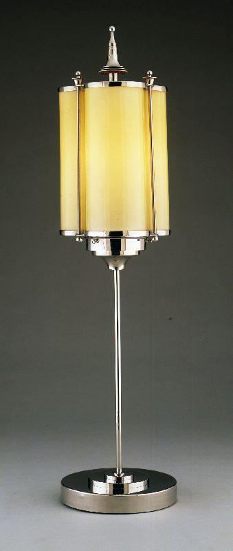 Marcello Piacentini trefoil motif table lamp - 1920's - Metal, glass, rubber - The Wolfsonian-Florida International University