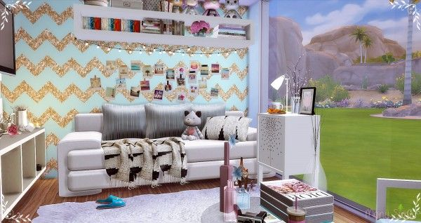 Mony Sims: Teenager Bedroom • Sims 4 Downloads