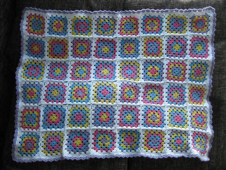 Baby blanket for my best friends little girl.