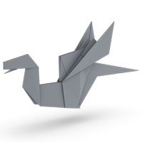 origami dragon for kids