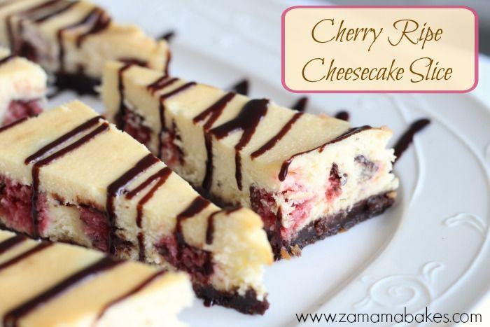 Cherry Ripe Cheesecake slice feature