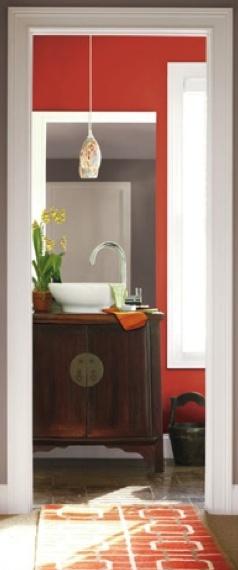 Jalape o sw 6629 paint colors for bathrooms for Southwest bathroom paint colors