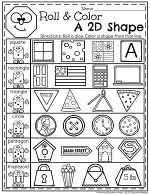 Shapes Worksheets | Kiddies in the Classroom | Shapes worksheets ...