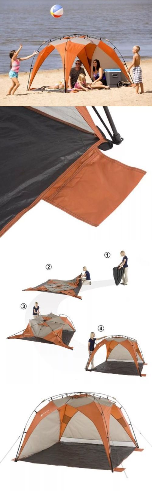 Canopies and Shelters 179011: Ozark Trail Sun Shade Tent 8X8 Instant Portable Beach Tents Outdoor Shelter New BUY IT NOW ONLY: $45.0