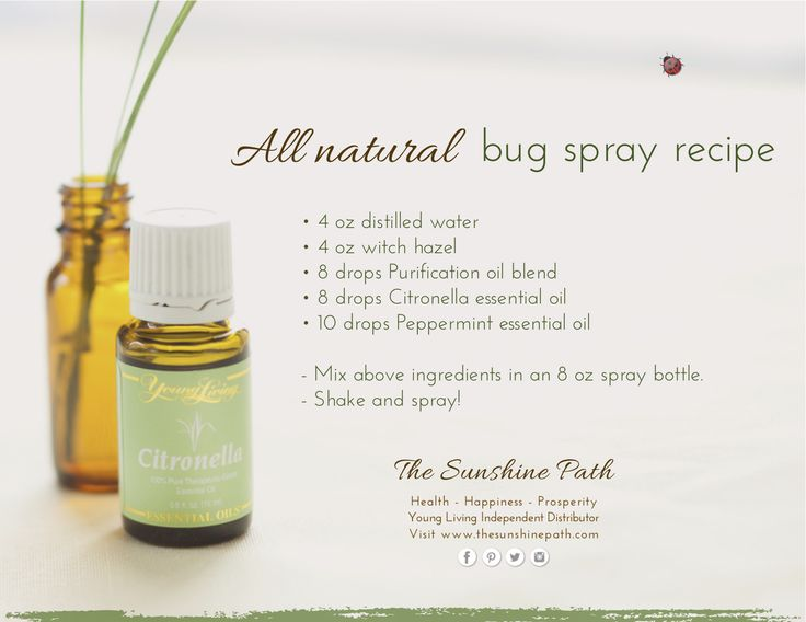 Young Living Essential Oils: All natural Bug Spray