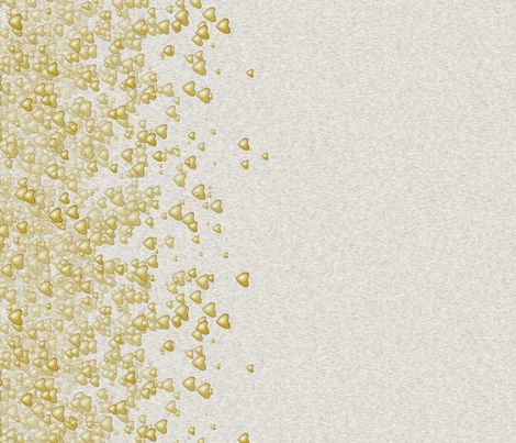 Sea Of Hearts - Border - Yellow fabric by bonnie_phantasm on Spoonflower - custom fabric. bedroom curtains?????