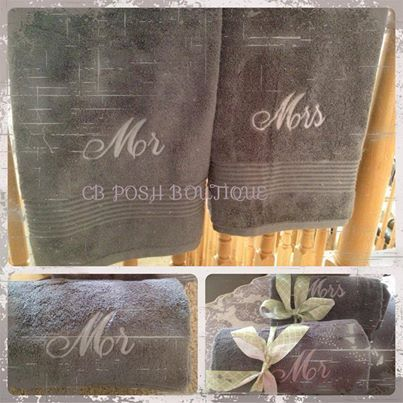 26 best images about towels on pinterest hand towel sets for Mr and mrs spa