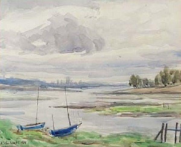 Rowland Wheelwright - Small yachts on the Estuary