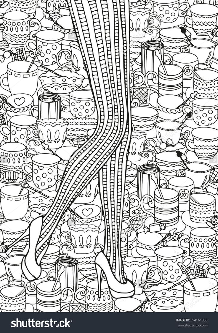 Mobile shimmer and shine coloring games coloring pages ausmalbilder - Female Legs In Retro Tights Coffee Cup Background Coloring Page