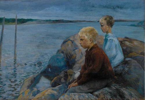 Jacob Kielland Sømme (1862-1940), Deux Garçons - 1896