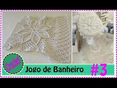 Tapete Vaso - Jogo de Banheiro em Crochet com Barbante #5 - YouTube