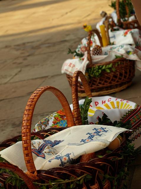 Easter baskets, Ukraine, from Iryna