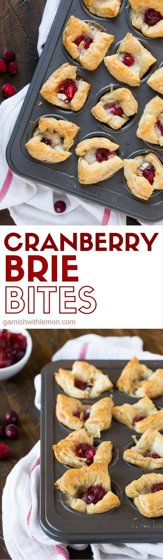 Looking for an easy, last-minute appetizer? These Cranberry Brie Bites are a great way to transform extra cranberry sauce and make a delicious party snack!