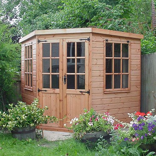 gardens with sheds google search