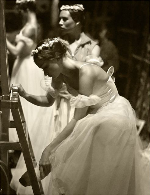 vintage black and white ballet photograph