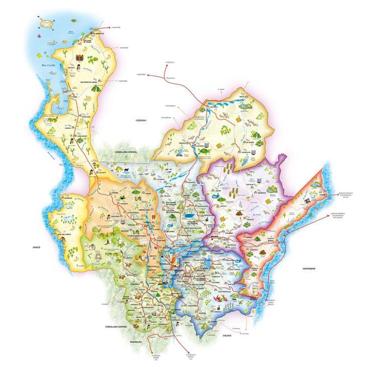 Regiones y Municipios de Antioquia