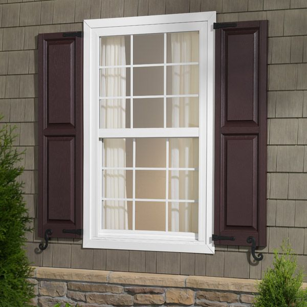 9 best window shutters images on pinterest shades for Exterior vinyl shutters for windows