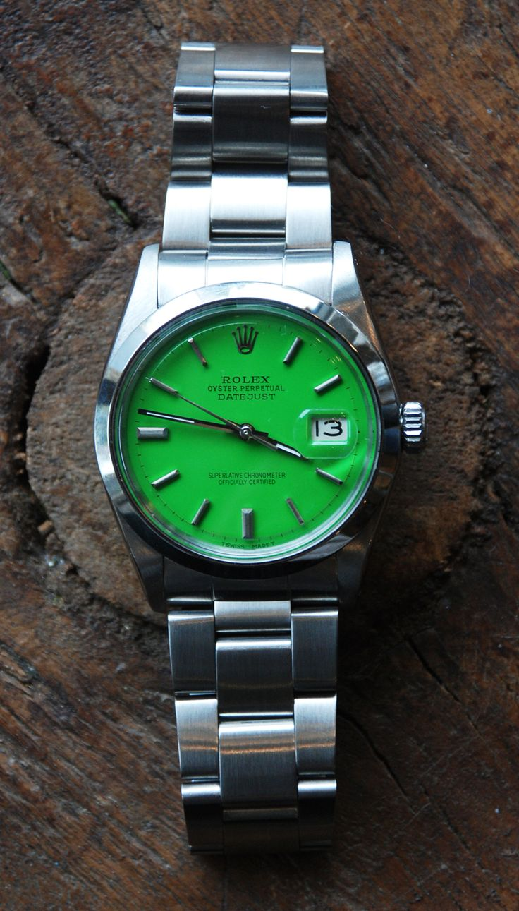 Green dial Rolex   Raddest Looks On The Internet: http://www.raddestlooks.net