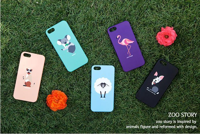Zoo Story Korea iPhone 5 5s Case, animal printed unique, polycarbonate UV Coated