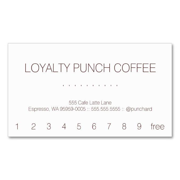 loyalty coffee punch