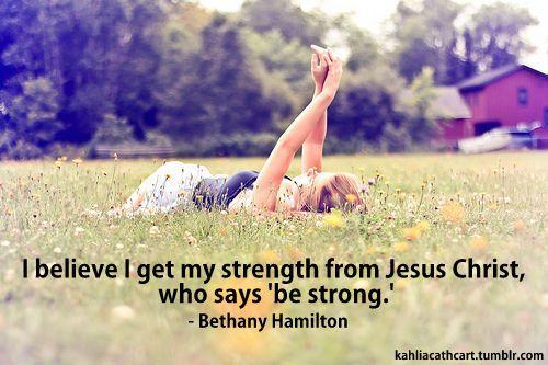 Bethany Hamilton's strength