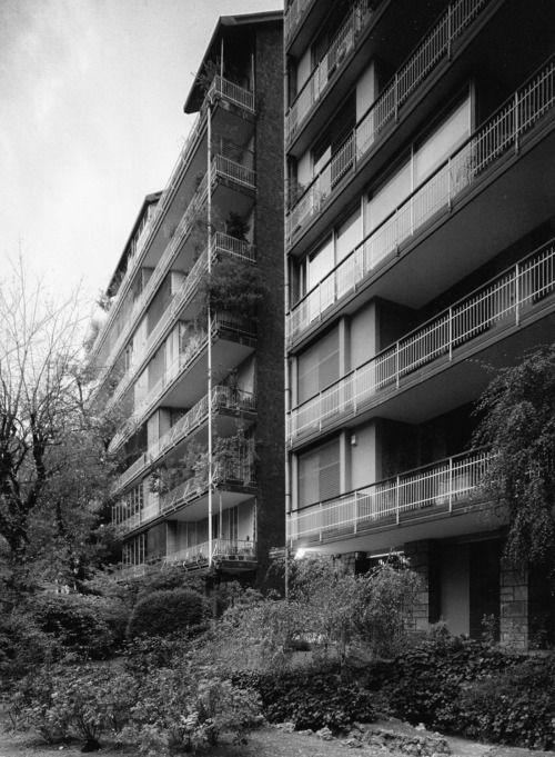 ignazio gardella - casa ai giardini d'ercole, via marchiondi, milano, 1949-54