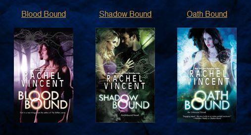 """Unbound Series..."" by Rachel Vincent"