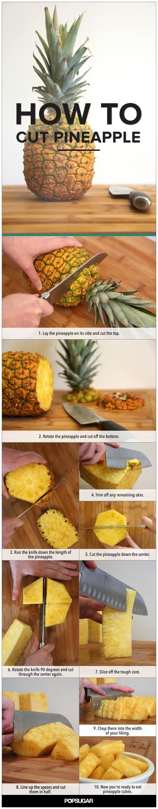 Learn to Cut Pineapple, in Pictures