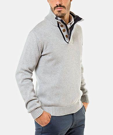 Cotton sweater Homem Outono Inverno | QUEBRAMAR - Shop Online