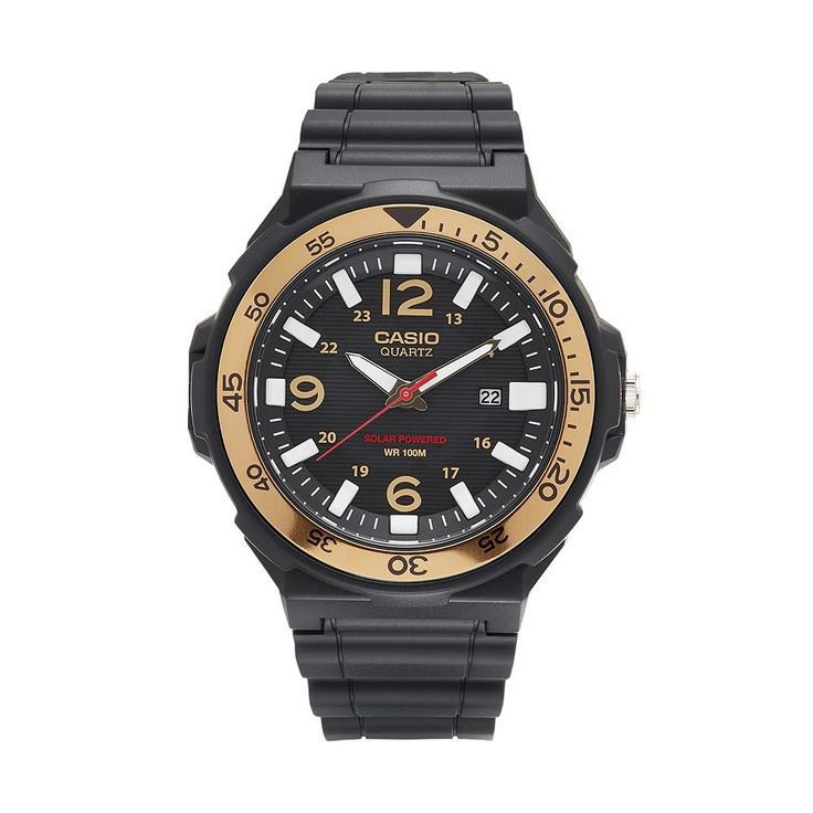 Casio Men's Classic Tough Solar Watch - MRWS310H-9BVCF, Black