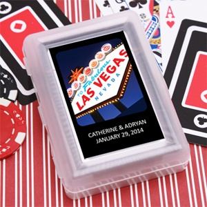 Wedding Favors & Party Supplies - Favors and Flowers :: Wedding Favor Themes :: Las Vegas Wedding Favors :: Personalized Playing Cards :: Exclusive Personalized Playing Cards