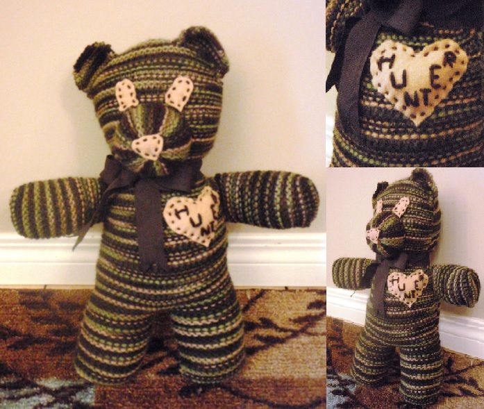 Personalized knitted teddy bear