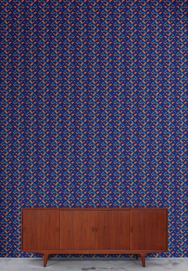 #Rumruk #wallpaper #geometric #navy #blue