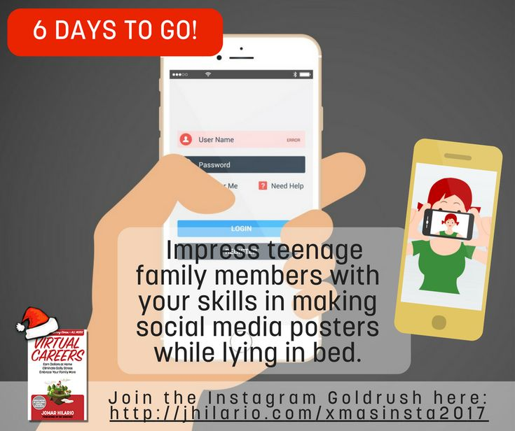 6 DAYS TO GO!    My Instagram students now they know how to :    > Use Snapchat (!!) another social network that will be the talk of the town in 2018.  > Use Augmented Reality Apps  > Use Video Maker Apps  > Use Workflows of different apps to create unique posters, videos and animations.  > Use either Android or IOS apps  > Impress their teenage family members with their skills in making social media posters while lying in bed.  > Use all the features — and I mean ALL the features of…