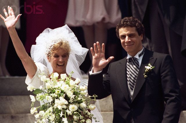Kerry Kennedy Wedding | Kerry Kennedy and Andrew Cuomo Waving - U90205017 - Rights Managed ...