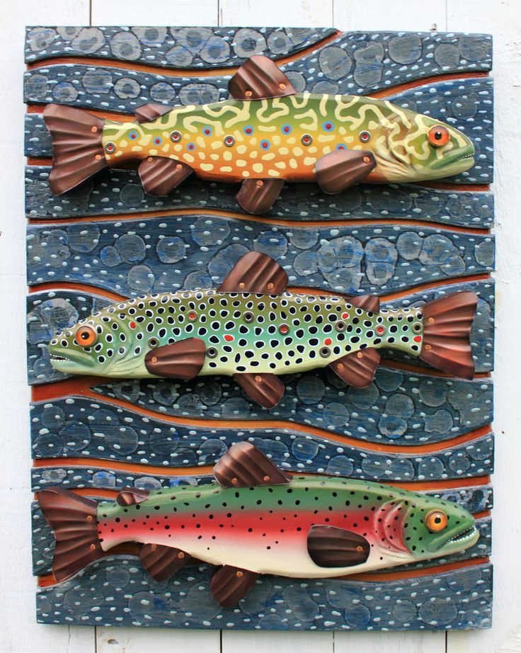 Folk Art Vermont | Fish Art | Rachel Laundon