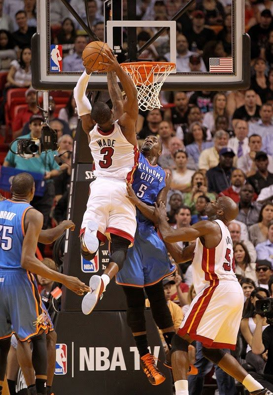 Perkins gets dunked on again by Dwayne Wade *Get paid for your sports passion at http://www.sportsblog.com #nbaplayoffs