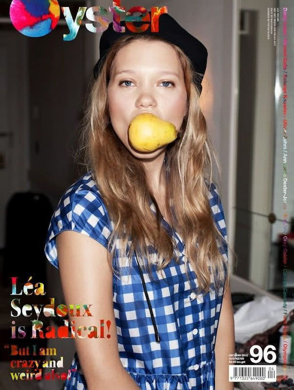 Cute photo and interview of Lea Seydoux http://www.oystermag.com/oyster-96-lea-seydoux