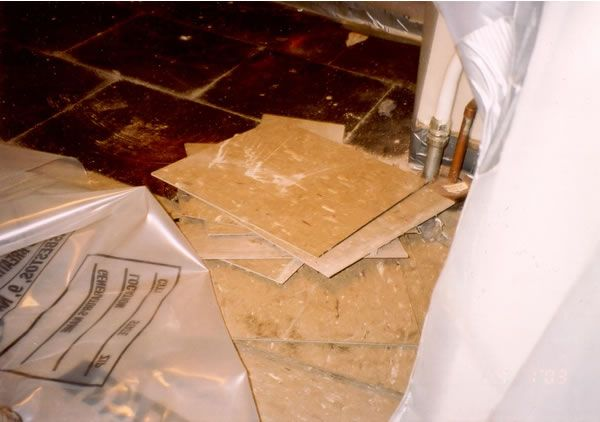 Removing Asbestos Tile Fun Stuff Asbestos Pinterest