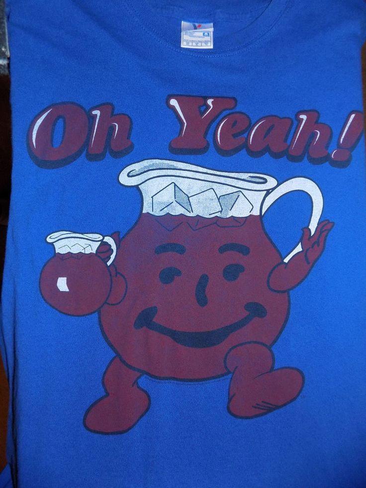 Kool-Aid Man Oh Yeah! T Shirt Size XL Blue #KoolAid #GraphicTee
