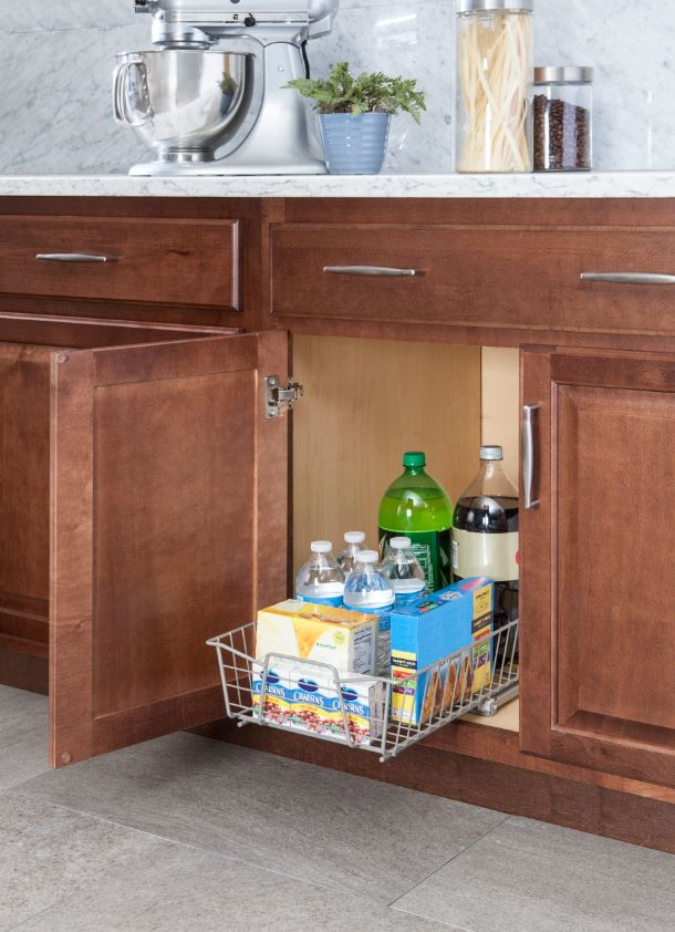 Perfect your storage for summer barbecues with our new kitchen cabinet organizers in nickel!