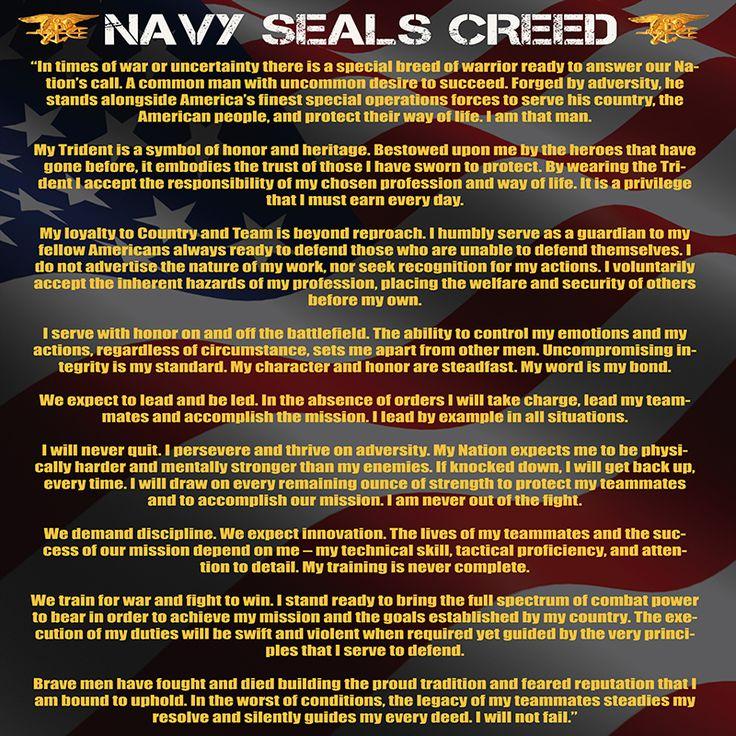 Best 25+ Navy seal creed ideas on Pinterest