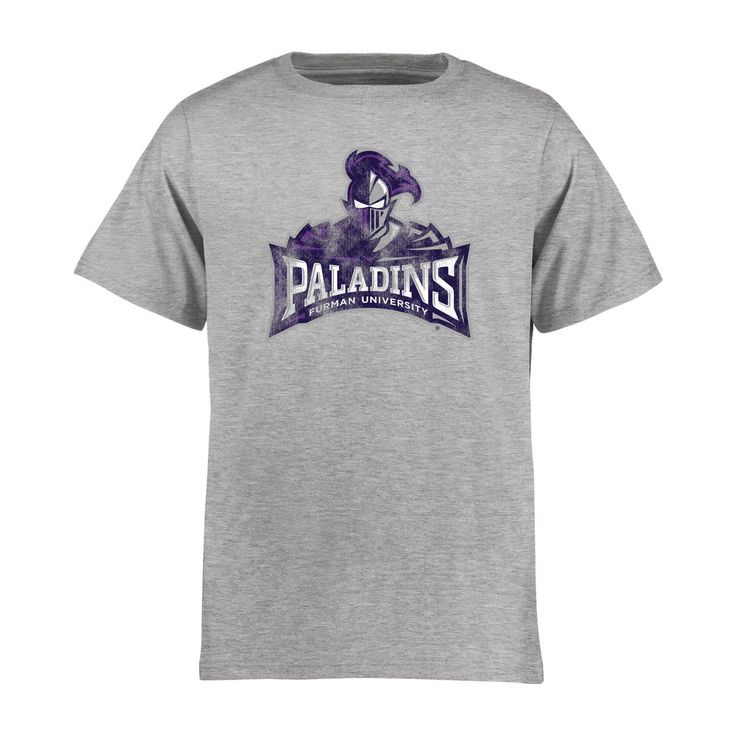 Furman Paladins Youth Classic Primary T-Shirt - Ash - $27.99