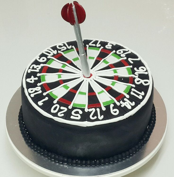 Dart Board Wedding Cake Topper