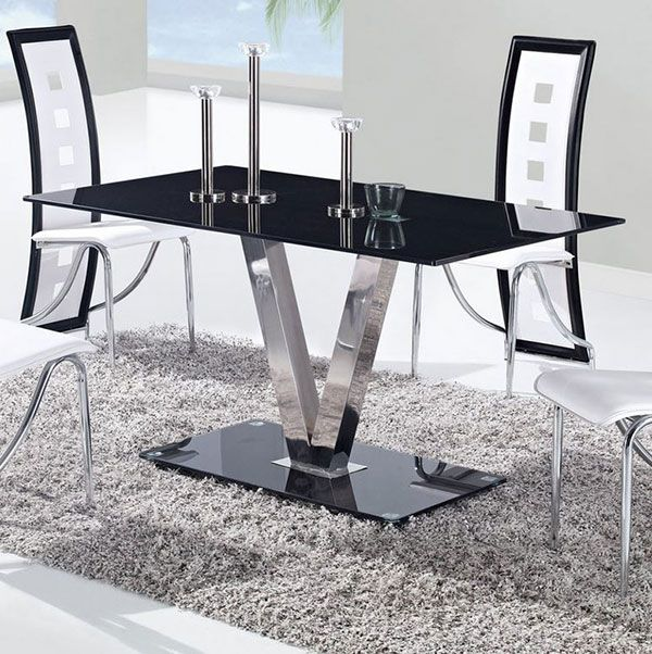 20 examples of glass dining room tables