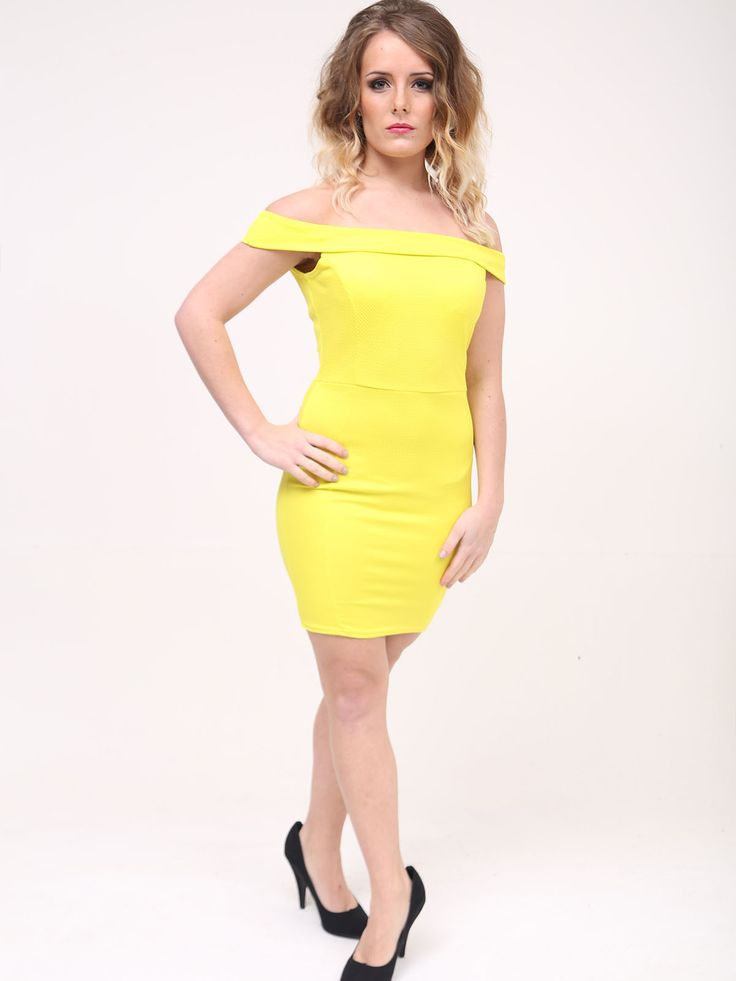 Tulisa yellow bodycon dress